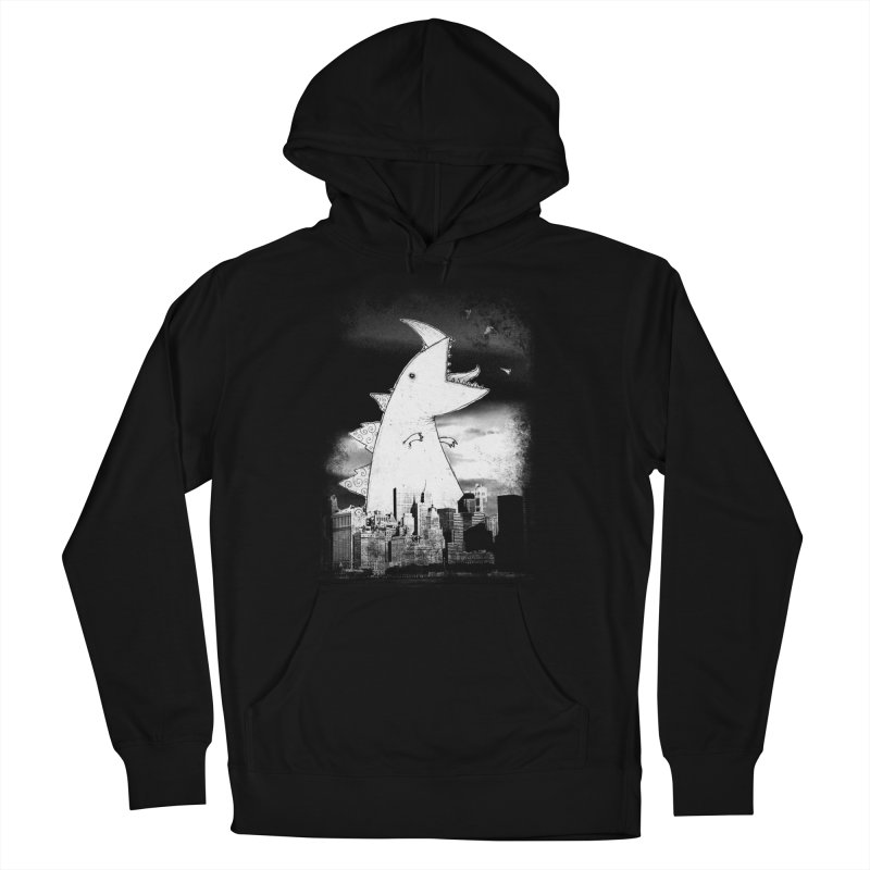Attack Men's French Terry Pullover Hoody by DinoMike's Artist Shop