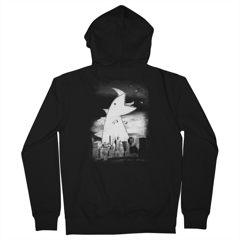 Attack Men's French Terry Zip-Up Hoody by DinoMike's Artist Shop