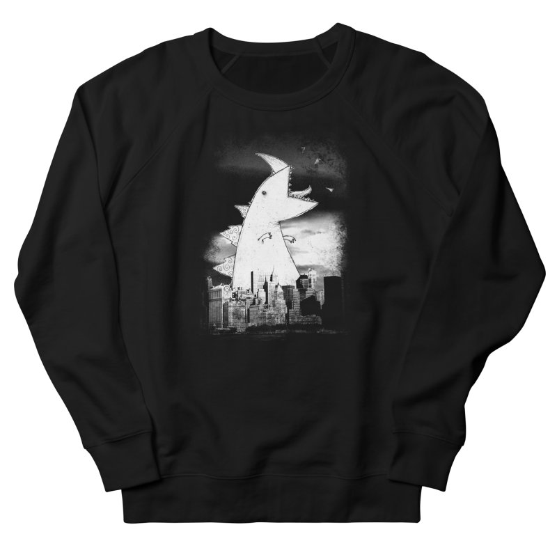Attack Men's French Terry Sweatshirt by DinoMike's Artist Shop
