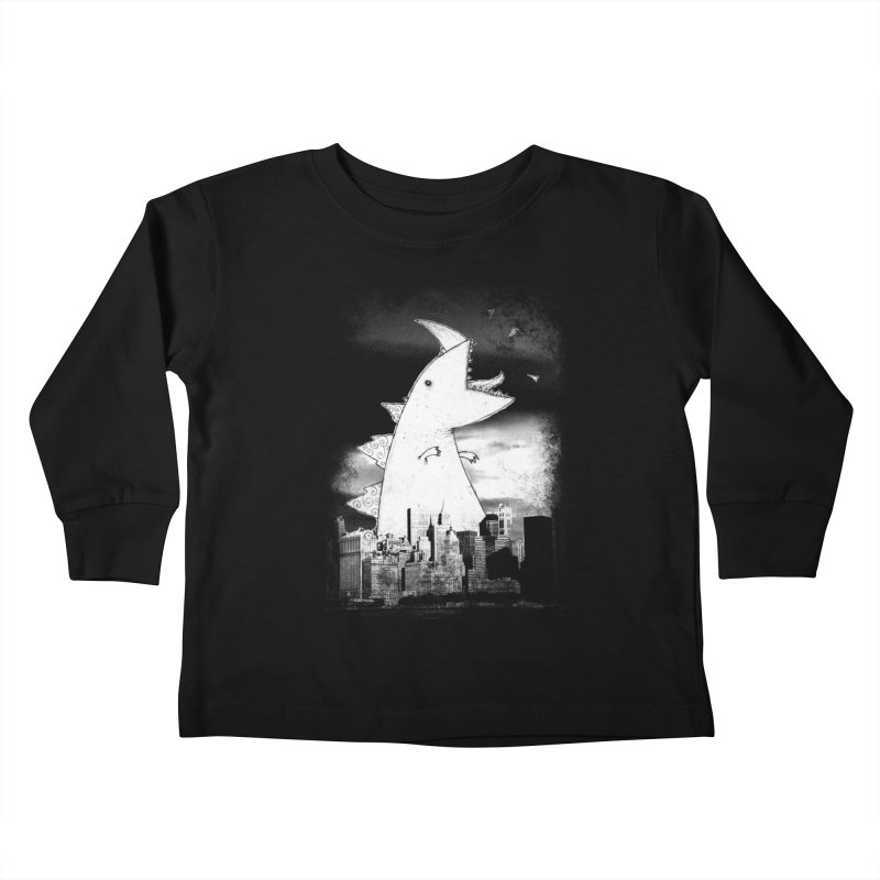 Attack Kids Toddler Longsleeve T-Shirt by DinoMike's Artist Shop