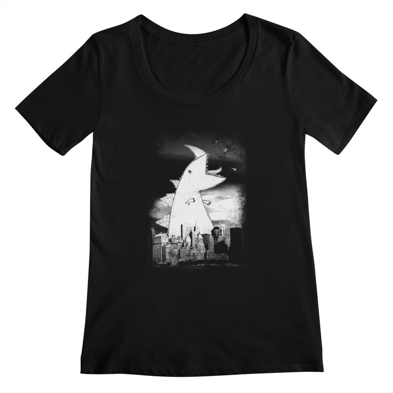 Attack Women's Scoopneck by DinoMike's Artist Shop