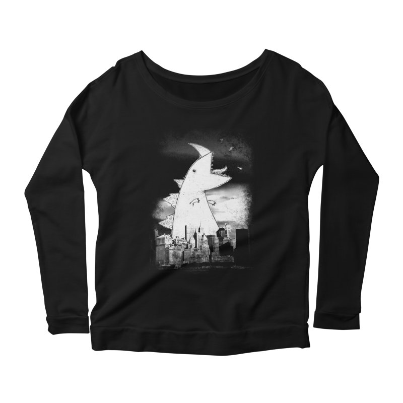 Attack Women's Scoop Neck Longsleeve T-Shirt by DinoMike's Artist Shop
