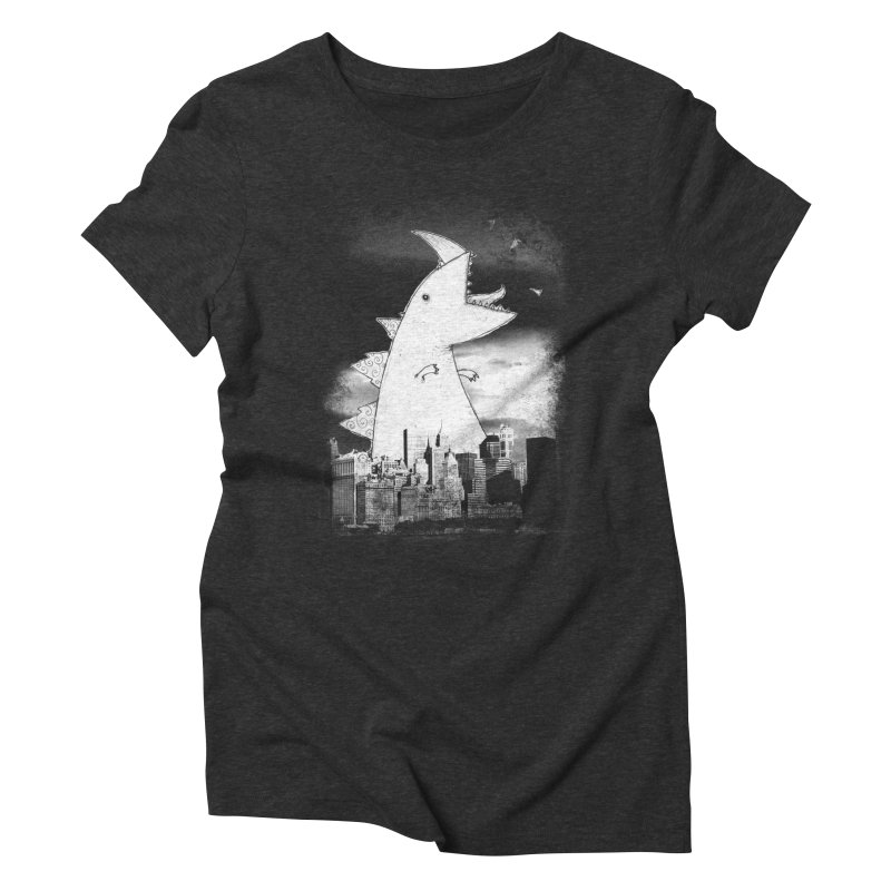 Attack Women's Triblend T-Shirt by DinoMike's Artist Shop