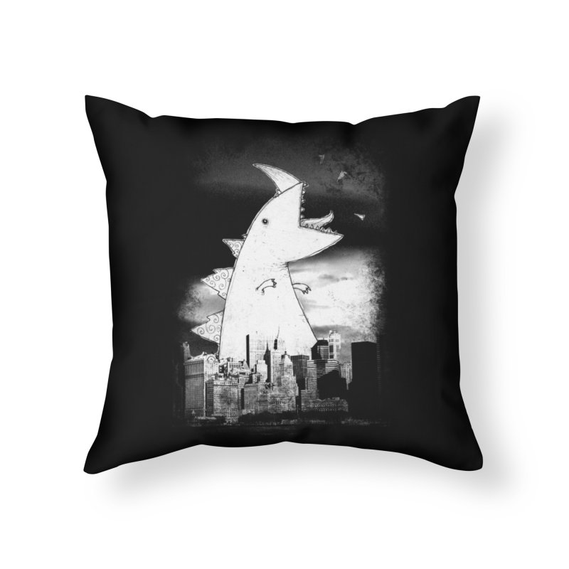 Attack Home Throw Pillow by DinoMike's Artist Shop