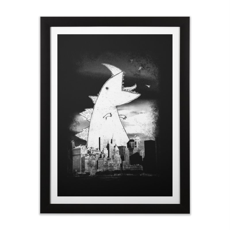 Attack Home Framed Fine Art Print by DinoMike's Artist Shop
