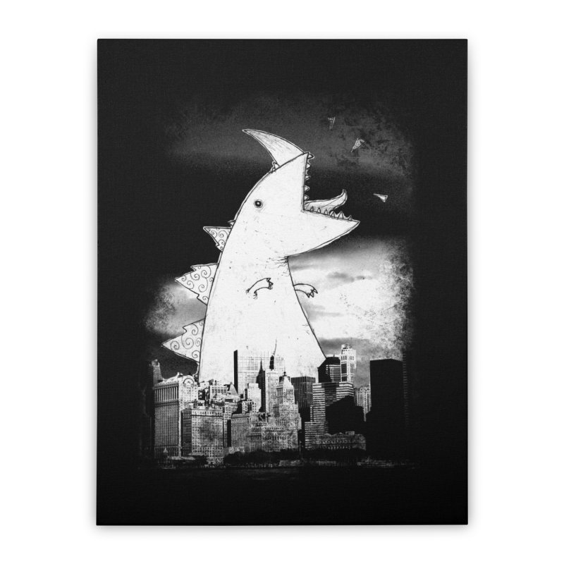 Attack Home Stretched Canvas by DinoMike's Artist Shop