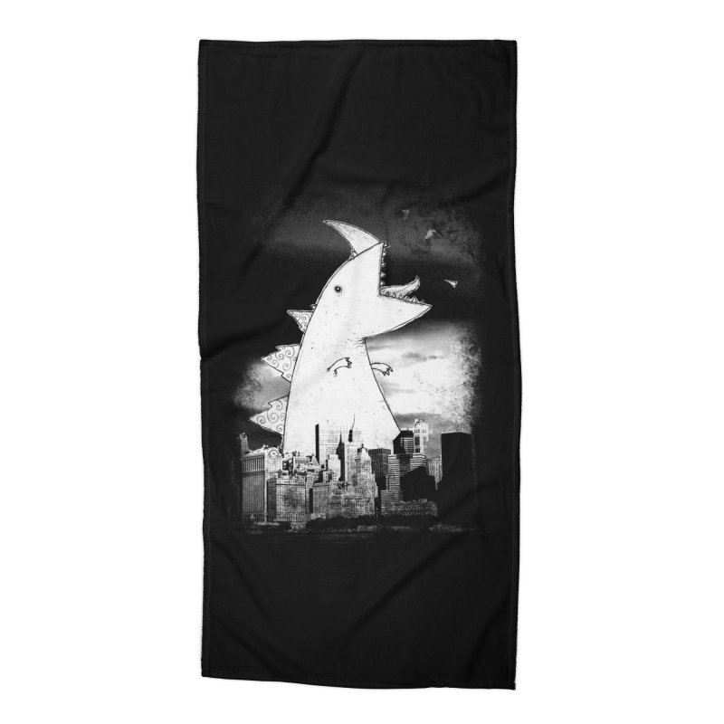 Attack Accessories Beach Towel by DinoMike's Artist Shop
