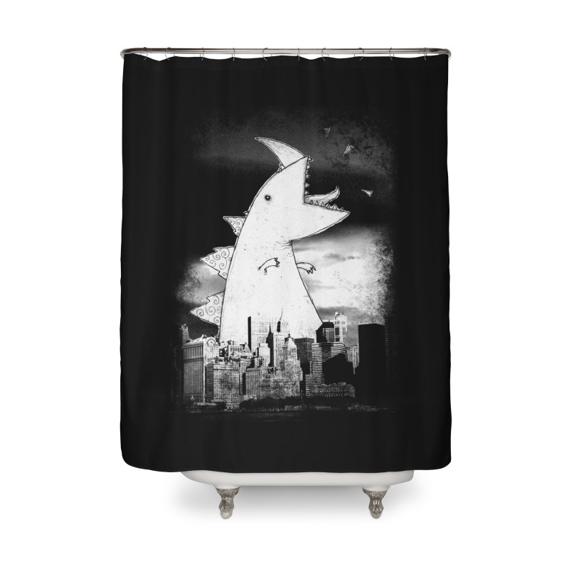 Attack Home Shower Curtain by DinoMike's Artist Shop