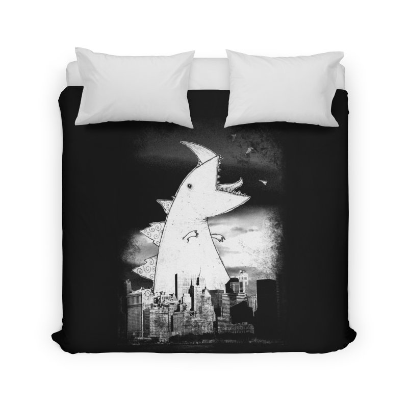 Attack Home Duvet by DinoMike's Artist Shop