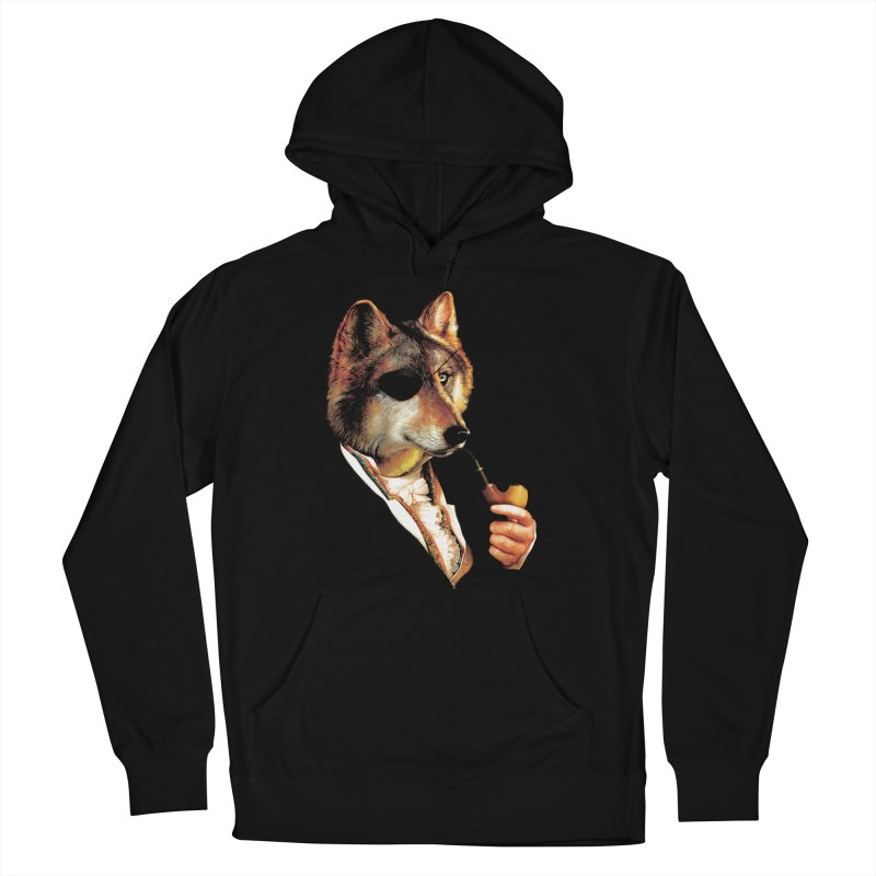 Baron von Wolf Hatches a Plan Men's French Terry Pullover Hoody by DinoMike's Artist Shop