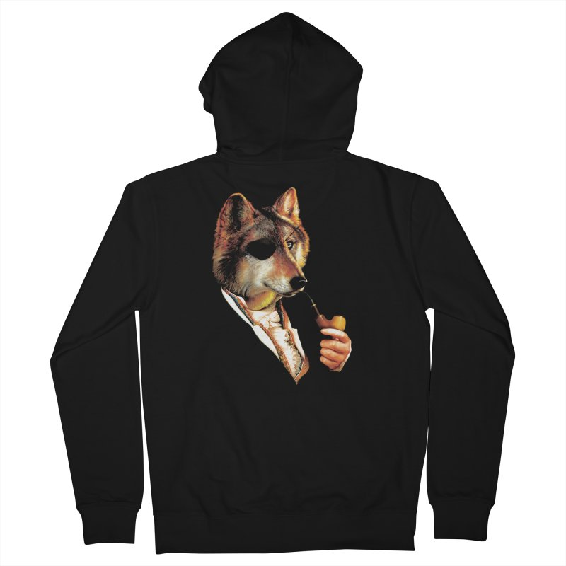 Baron von Wolf Hatches a Plan Men's French Terry Zip-Up Hoody by DinoMike's Artist Shop