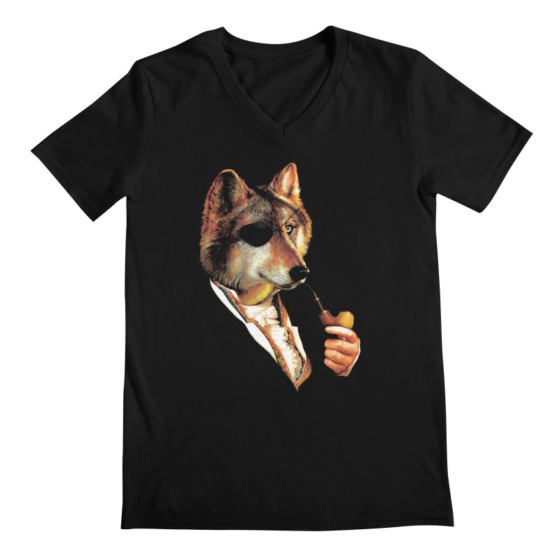 Baron von Wolf Hatches a Plan Men's Regular V-Neck by DinoMike's Artist Shop