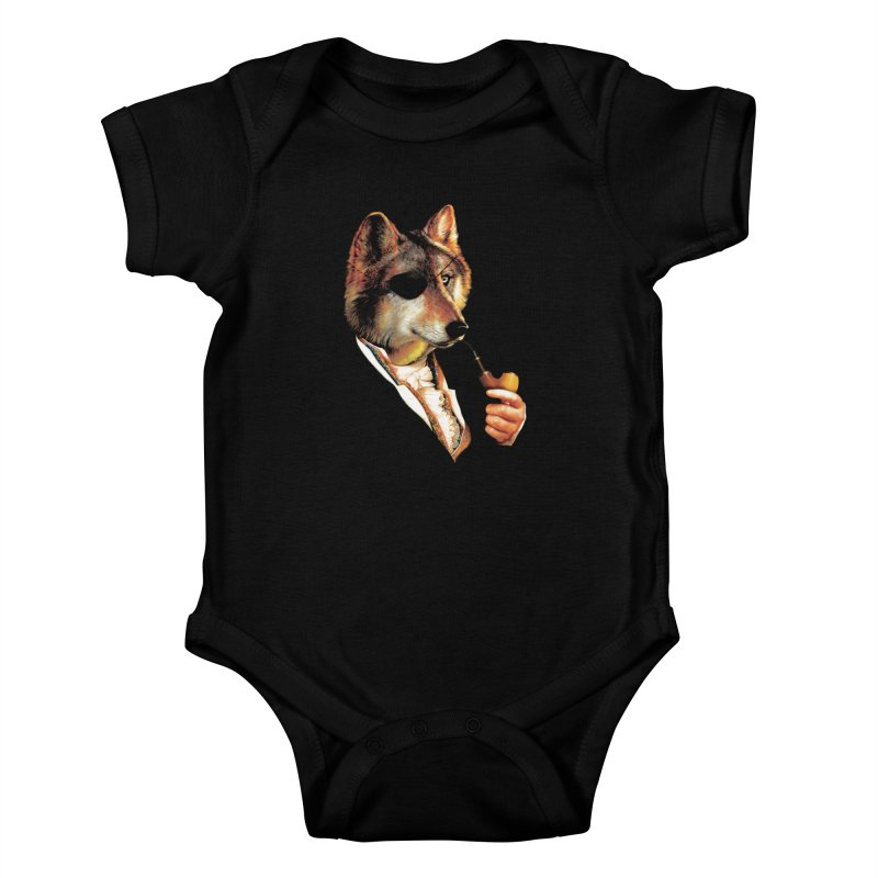 Baron von Wolf Hatches a Plan Kids Baby Bodysuit by DinoMike's Artist Shop