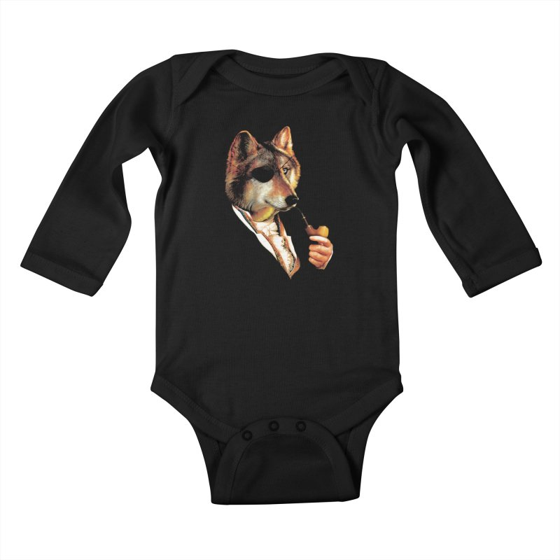 Baron von Wolf Hatches a Plan Kids Baby Longsleeve Bodysuit by DinoMike's Artist Shop