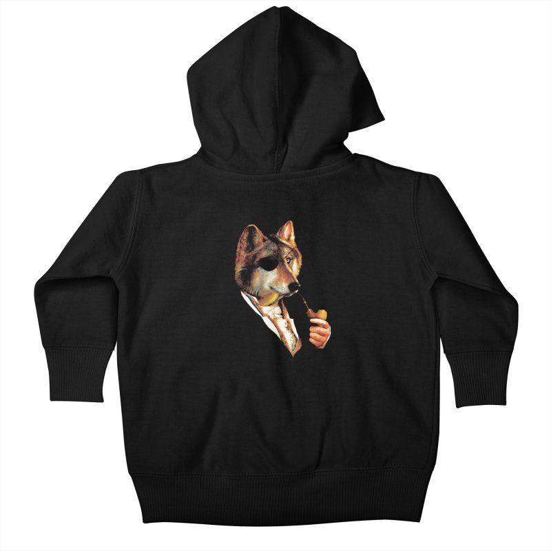 Baron von Wolf Hatches a Plan Kids Baby Zip-Up Hoody by DinoMike's Artist Shop
