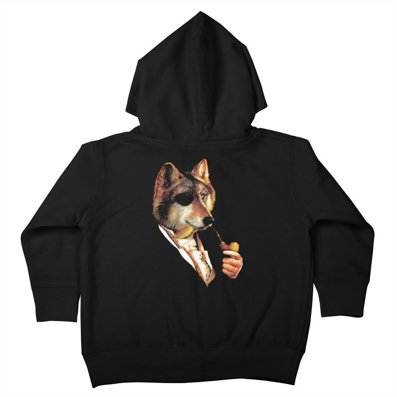 Baron von Wolf Hatches a Plan Kids Toddler Zip-Up Hoody by DinoMike's Artist Shop