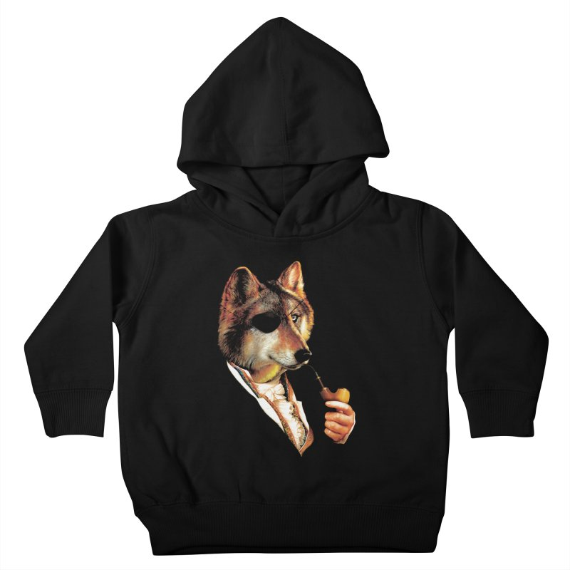 Baron von Wolf Hatches a Plan Kids Toddler Pullover Hoody by DinoMike's Artist Shop