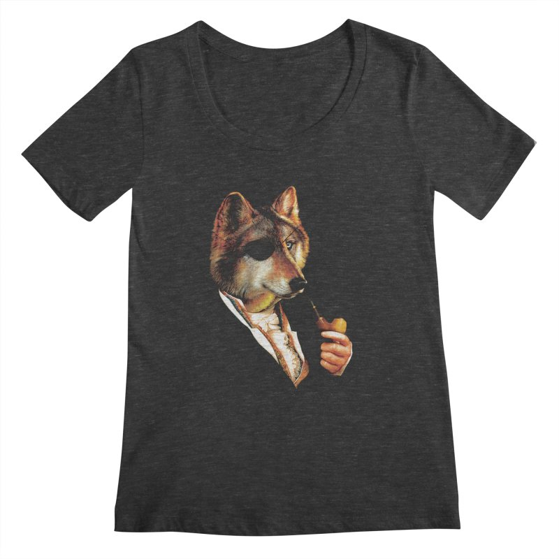 Baron von Wolf Hatches a Plan Women's Scoopneck by DinoMike's Artist Shop