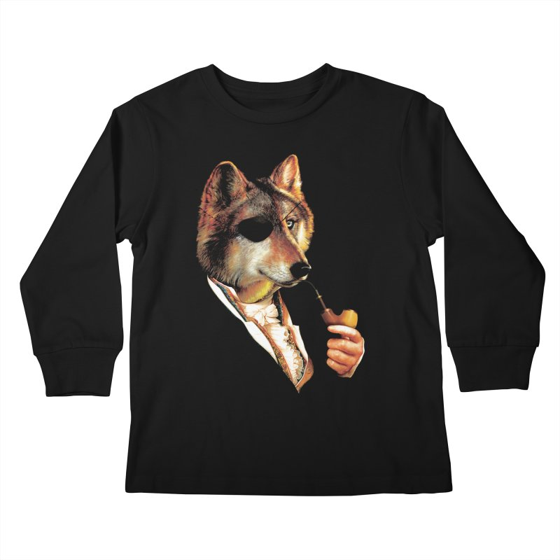 Baron von Wolf Hatches a Plan Kids Longsleeve T-Shirt by DinoMike's Artist Shop