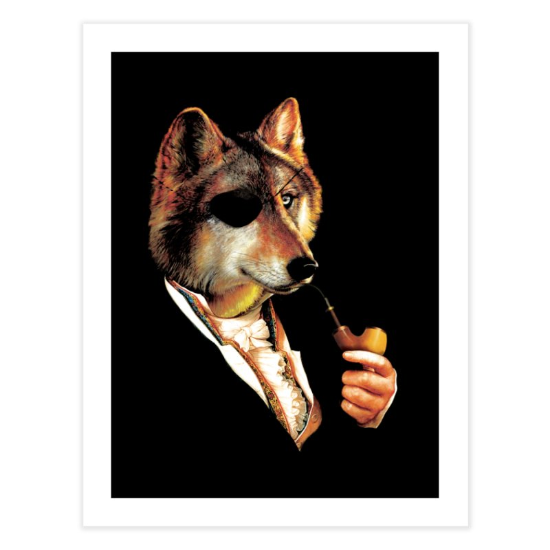Baron von Wolf Hatches a Plan Home Fine Art Print by DinoMike's Artist Shop