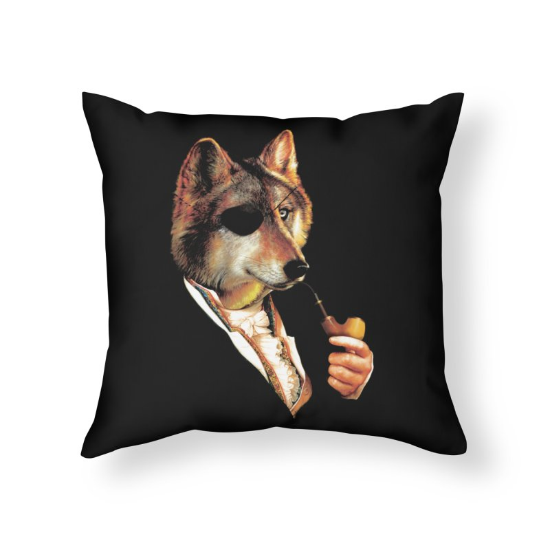 Baron von Wolf Hatches a Plan Home Throw Pillow by DinoMike's Artist Shop