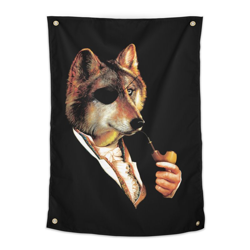 Baron von Wolf Hatches a Plan Home Tapestry by DinoMike's Artist Shop