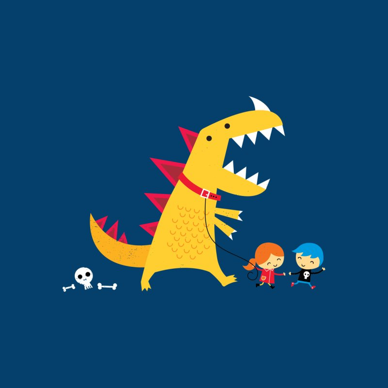Dino Walk Men's T-Shirt by DinoMike's Artist Shop