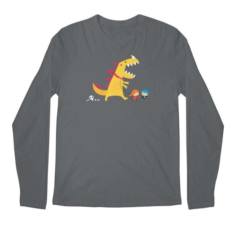 Dino Walk Men's Longsleeve T-Shirt by DinoMike's Artist Shop