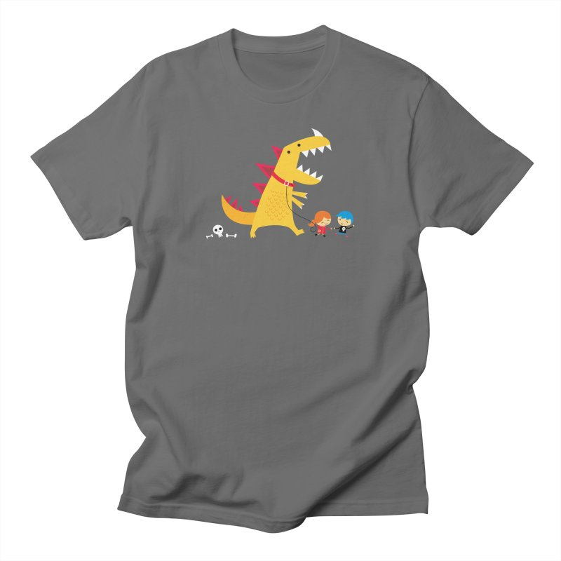 Dino Walk Men's T-Shirt by DinoMike's Artist Shop
