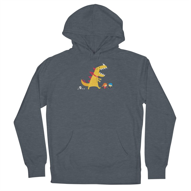 Dino Walk Women's French Terry Pullover Hoody by DinoMike's Artist Shop
