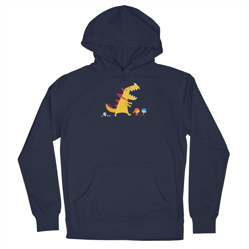 Dino Walk Men's Pullover Hoody by DinoMike's Artist Shop