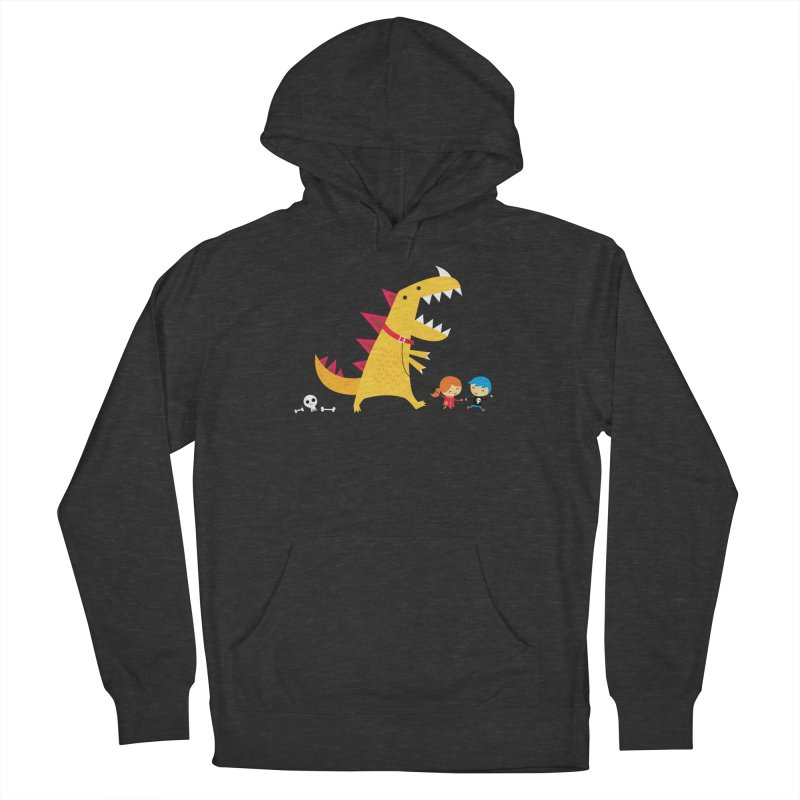 Dino Walk Men's French Terry Pullover Hoody by DinoMike's Artist Shop