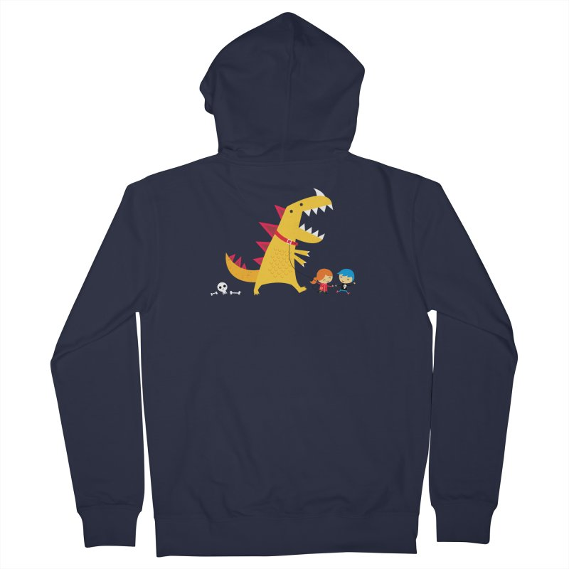 Dino Walk Men's Zip-Up Hoody by DinoMike's Artist Shop