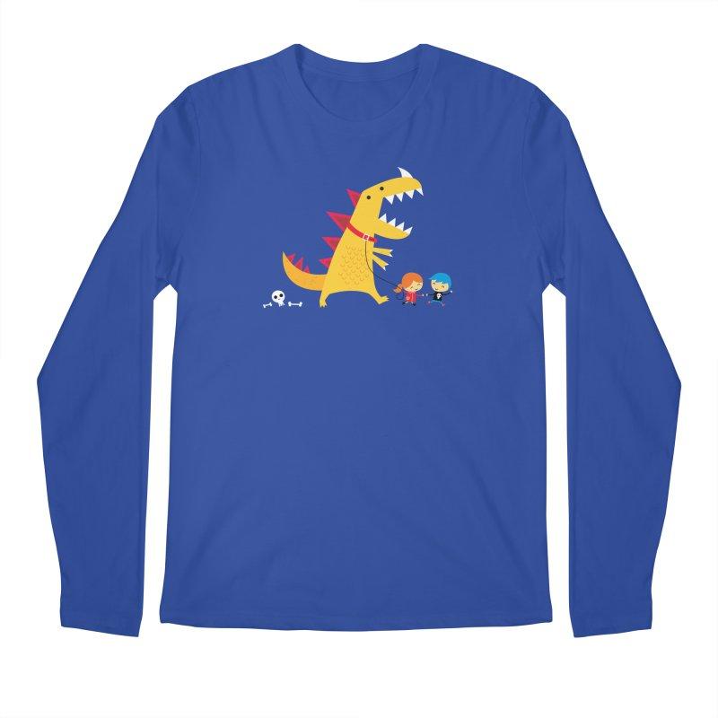 Dino Walk Men's Regular Longsleeve T-Shirt by DinoMike's Artist Shop