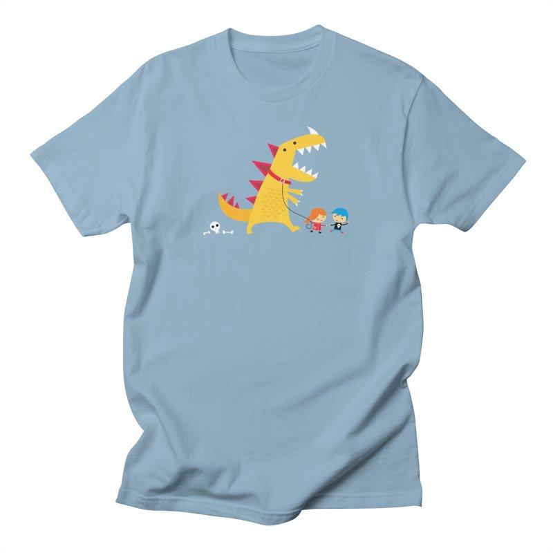 Dino Walk Women's Regular Unisex T-Shirt by DinoMike's Artist Shop