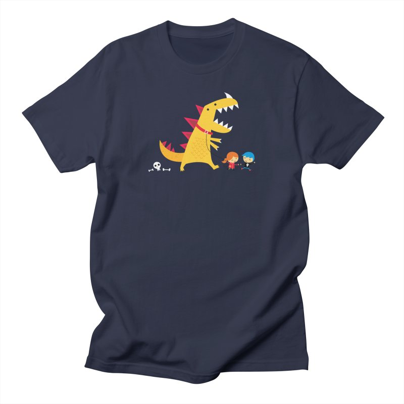 Dino Walk Men's Regular T-Shirt by DinoMike's Artist Shop