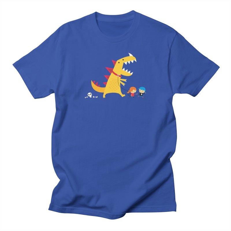 Dino Walk Men's Regular T-Shirt by DinoMike's Artist Shop