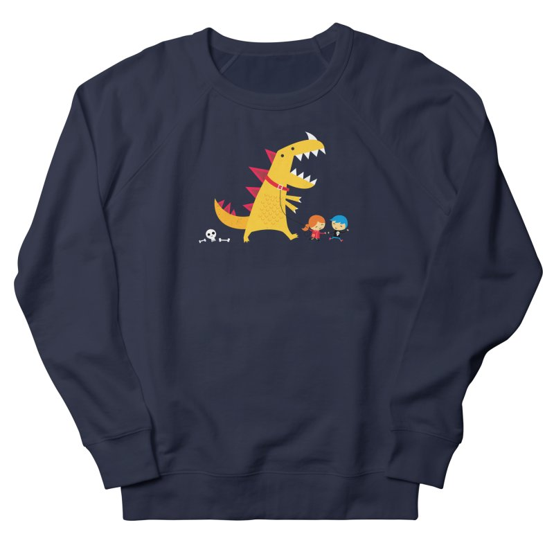 Dino Walk Women's French Terry Sweatshirt by DinoMike's Artist Shop