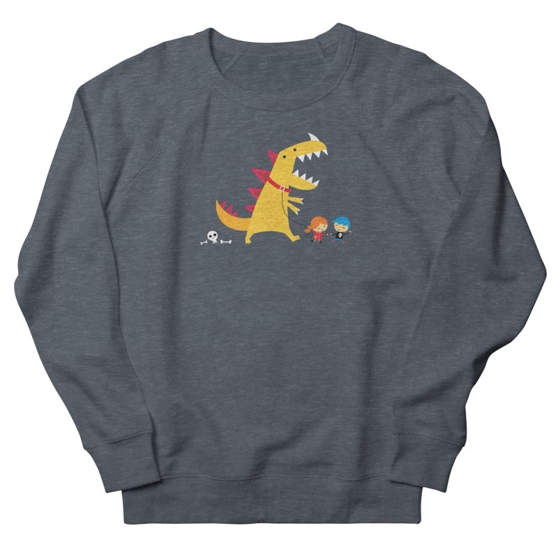 Dino Walk Men's Sweatshirt by DinoMike's Artist Shop