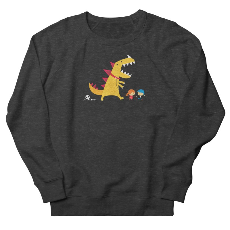 Dino Walk Men's French Terry Sweatshirt by DinoMike's Artist Shop