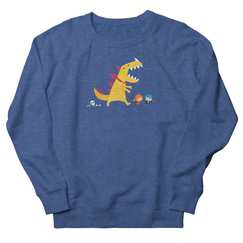 Dino Walk Men's French Terry Sweatshirt by DinoMike's Artist Shop