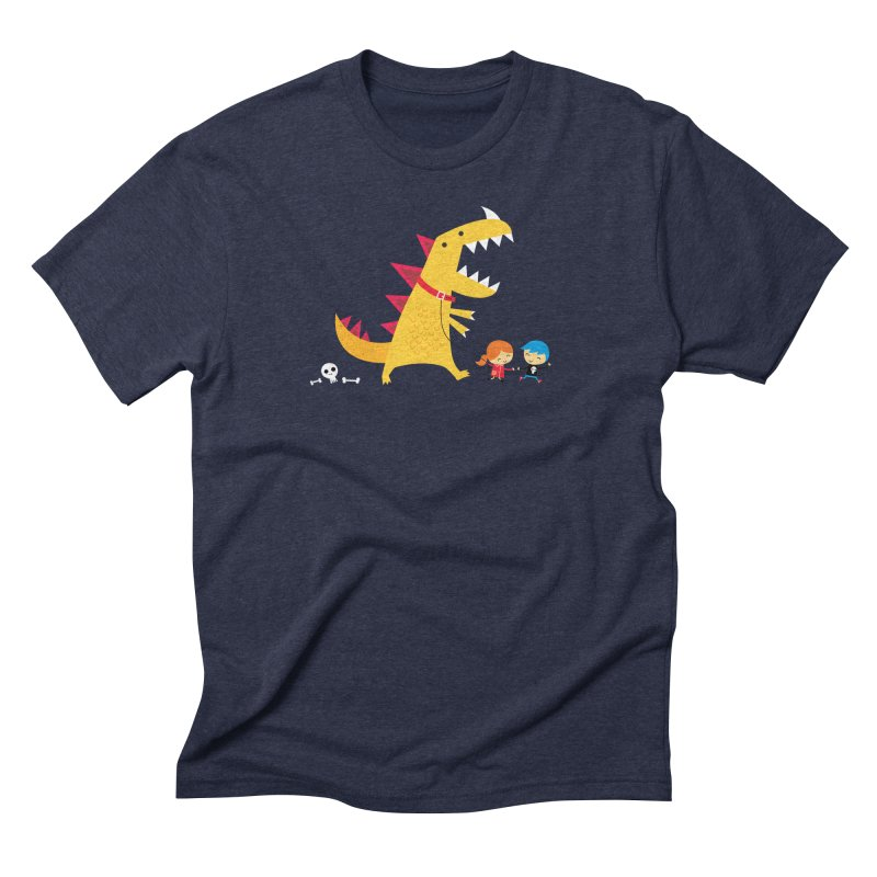 Dino Walk Men's Triblend T-Shirt by DinoMike's Artist Shop