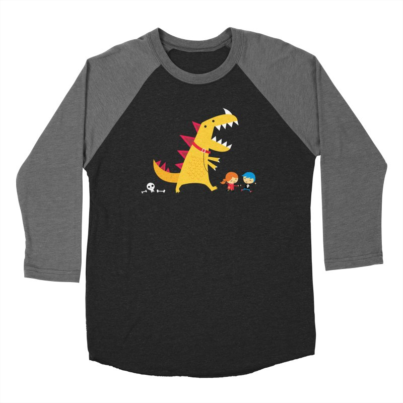 Dino Walk Men's Baseball Triblend Longsleeve T-Shirt by DinoMike's Artist Shop