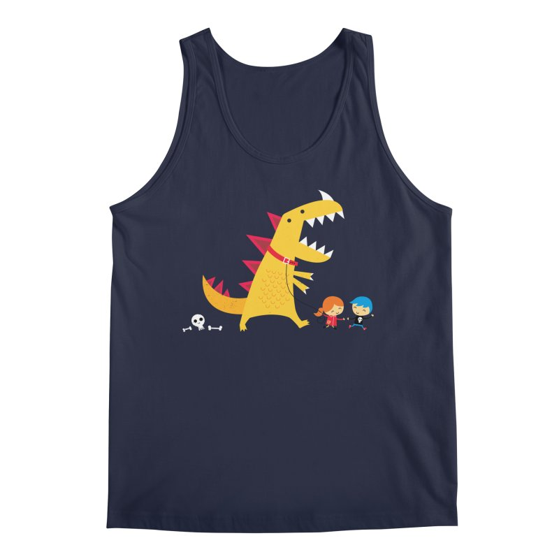 Dino Walk Men's Regular Tank by DinoMike's Artist Shop