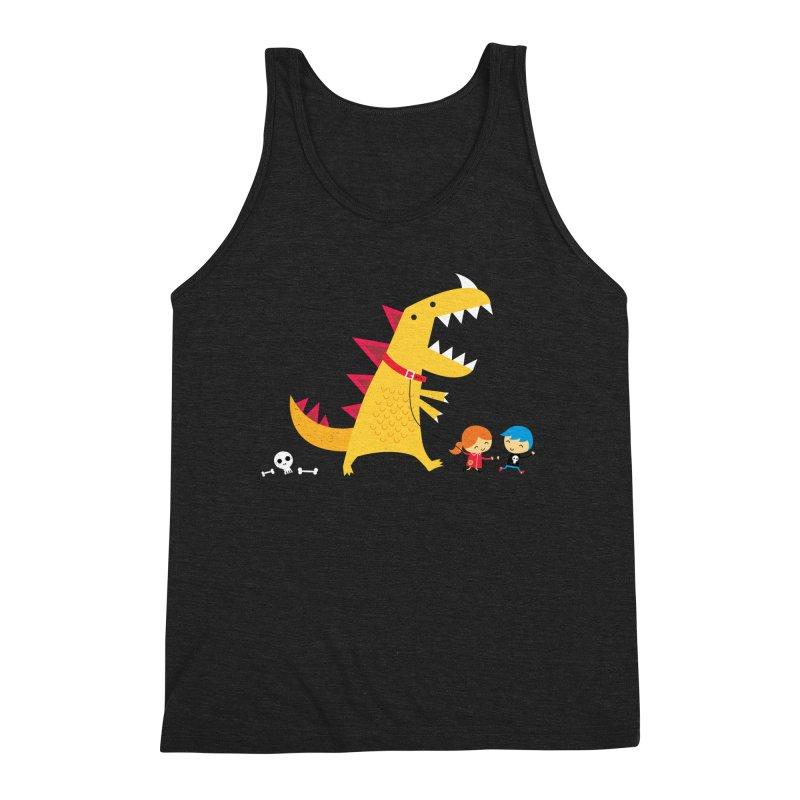 Dino Walk Men's Triblend Tank by DinoMike's Artist Shop