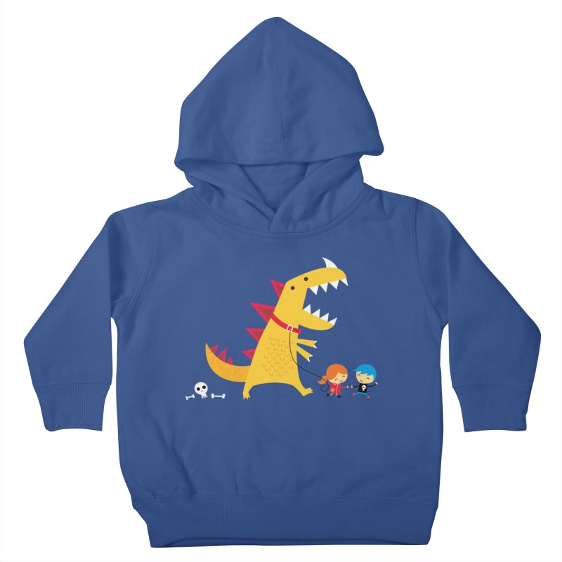 Dino Walk Kids Toddler Pullover Hoody by DinoMike's Artist Shop