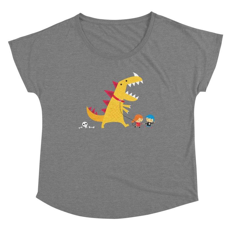 Dino Walk Women's Dolman Scoop Neck by DinoMike's Artist Shop