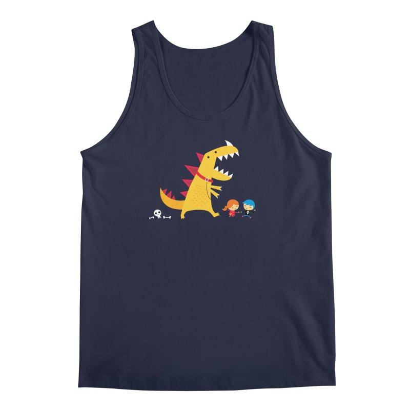 Dino Walk Men's Tank by DinoMike's Artist Shop