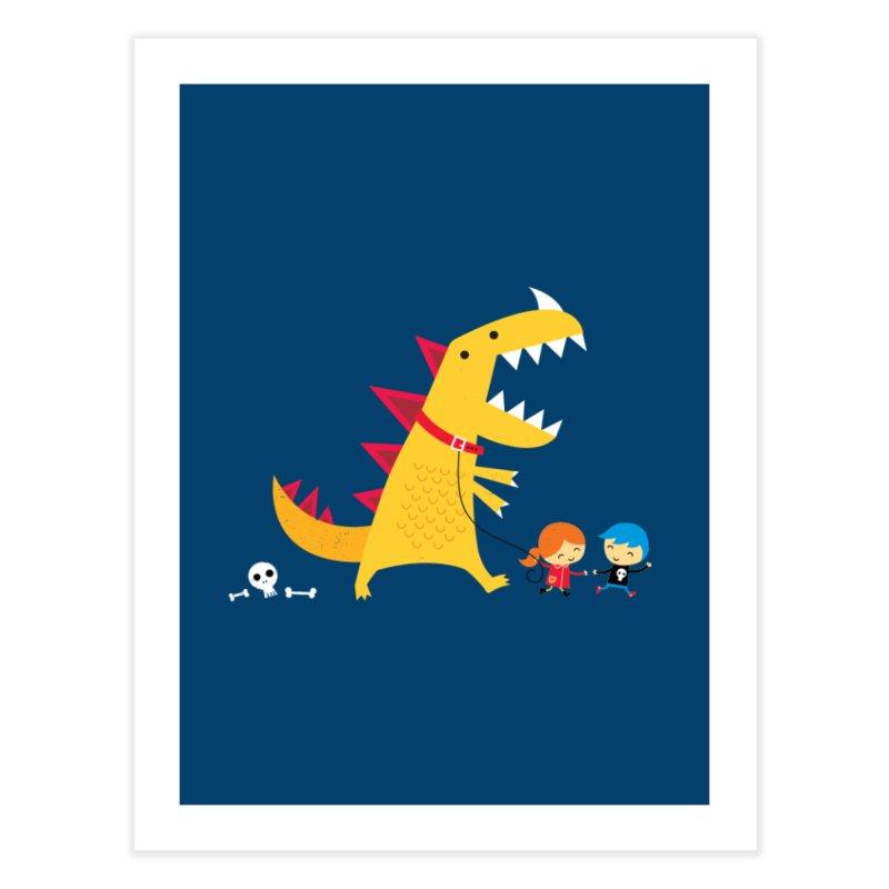 Dino Walk Home Fine Art Print by DinoMike's Artist Shop