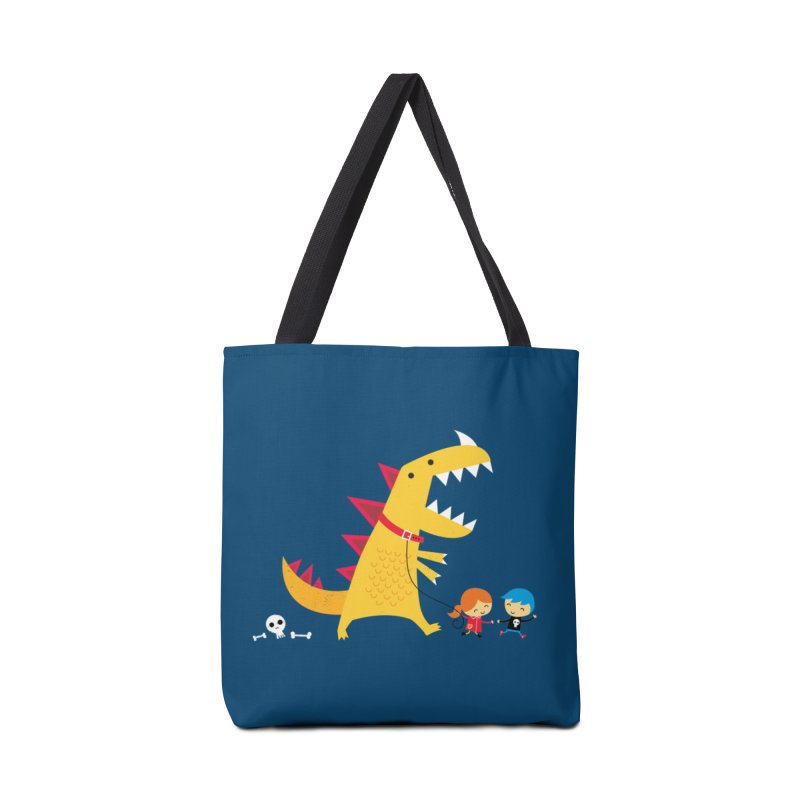 Dino Walk Accessories Tote Bag Bag by DinoMike's Artist Shop